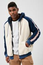 Forever21 Drill Clothing Colorblock Sherpa Jacket
