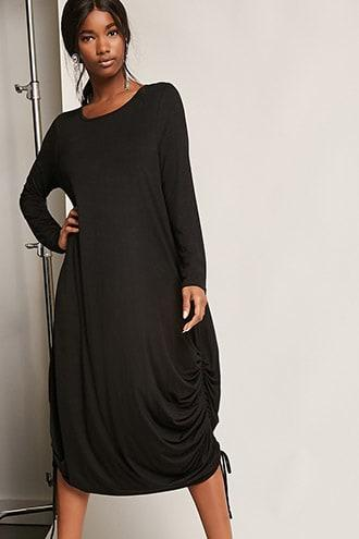 Forever21 Oversized Ruched Maxi Dress