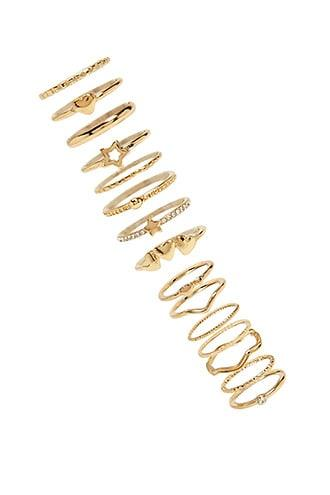 Forever21 Heart Stackable Ring Set