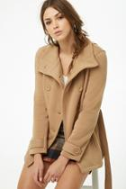 Forever21 Fleece Double-breasted Peacoat