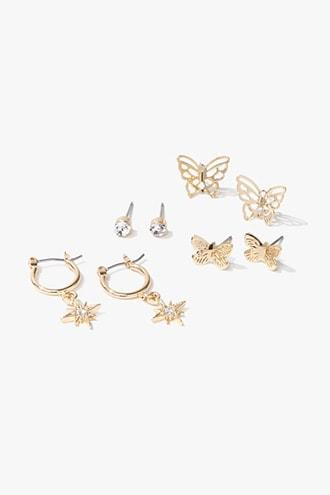 Forever21 Butterfly Earrings Set