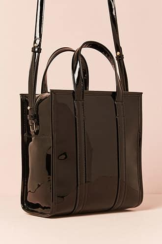 Forever21 Faux Patent Leather Satchel