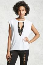 Forever21 Plunging Cutout Top