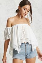 Forever21 Handkerchief Crochet Top