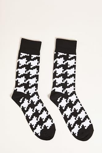 Forever21 Men Houndstooth Crew Socks
