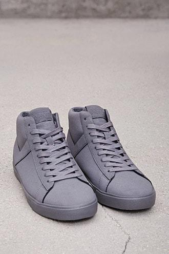 Forever21 Pony Nubuck High-top Sneakers