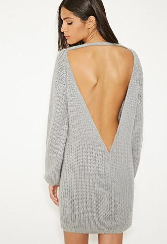 Forever21 Mlm V-cut Back Sweater Dress