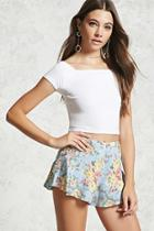 Forever21 Floral Flowy Shorts