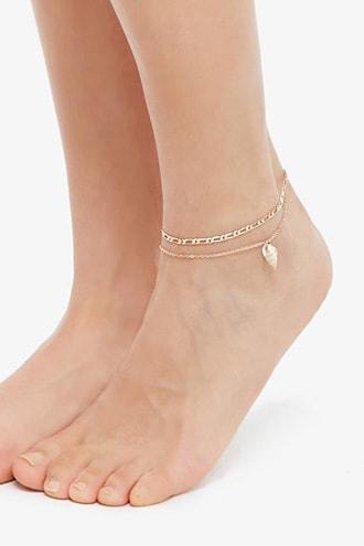 Forever21 Seashell Anklet Set