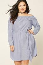 Forever21 Plus Size Pinstripe Dress