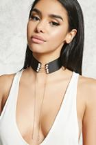 Forever21 Faux Pearl Drop Chain Choker