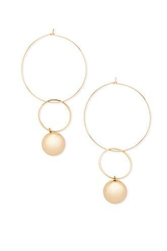 Forever21 Wire Hoop Bauble Earrings