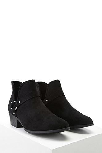 Forever21 Ring Detail Faux Suede Boots