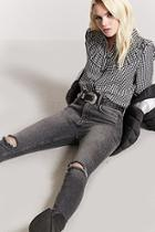 Forever21 Distressed High-waist Skinny Jeans