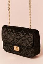 Forever21 Quilted Velvet Crossbody Bag