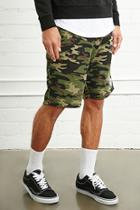 21 Men Men's  Camo Print Knit Shorts
