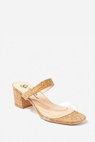 Forever21 Open-toe Cork Block Heels