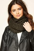 Forever21 Olive Open-knit Infinity Scarf
