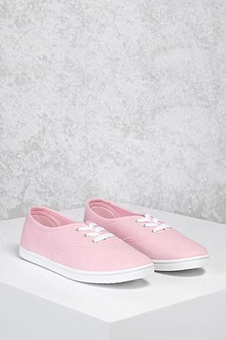 Forever21 Lace-up Canvas Plimsolls