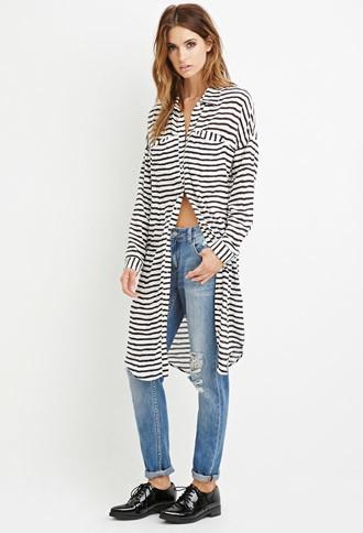 Love21 Stripe Shirt Dress