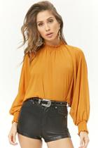 Forever21 Smocked Chiffon Top