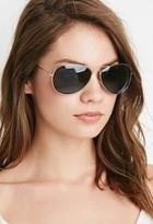 Forever21 Classic Mirrored Aviator Sunglasses