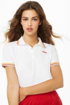 Forever21 Wilson Striped-trim Polo Logo Shirt