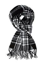 Forever21 Frayed Plaid Scarf