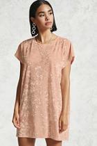 Forever21 Crushed Velvet T-shirt Dress