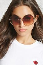 Forever21 Rimless Oversized Round Sunglasses