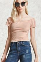 Forever21 Striped Ruffled Top