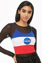 Forever21 Nasa Colorblock Cropped Cami