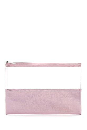 Forever21 Clear Metallic Makeup Bag