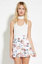Forever21 Floral Mini Skater Skirt