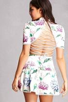 Forever21 Floral Cutout Mini Dress