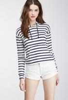 Forever21 Hooded Striped Pullover