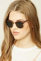 Forever21 Brown Classic Round Sunglasses