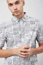 Forever21 Newspaper Print Shirt
