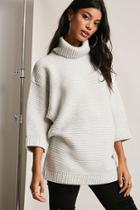 Forever21 Ribbed Knit Turtleneck Sweater