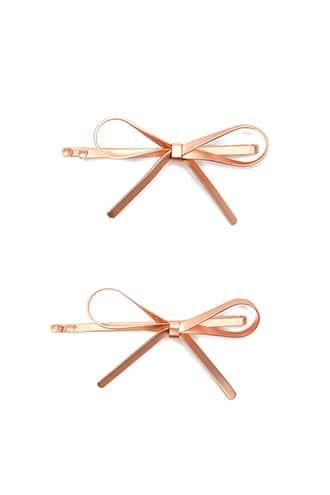 Forever21 Metallic Bow Bobby Pin Set