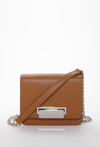 Forever 21 Chain Strap Crossbody Bag Tan One Size