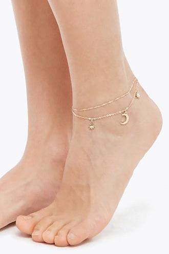 Forever21 Layered Charm Anklet