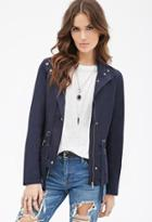 Forever21 Contemporary Windbreaker Utility Jacket