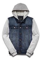 Forever21 Hooded Denim Jacket