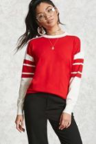 Forever21 Varsity Striped Knit Sweater