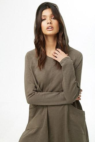 Forever21 Hooded Seam Tunic
