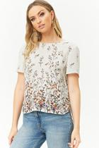 Forever21 Floral Print Chiffon Top
