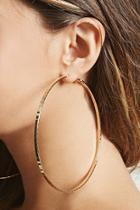 Forever21 Oversized Hammered Hoop Earrings