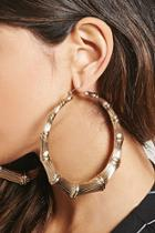 Forever21 Oversized Bamboo Hoop Earrings