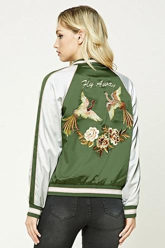 Forever21 Contemporary Graphic Bomber